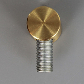 1/4ips X 1/8ips Threaded - 3/4in Diameter Straight 90 Degree Armback - Unfinished Brass