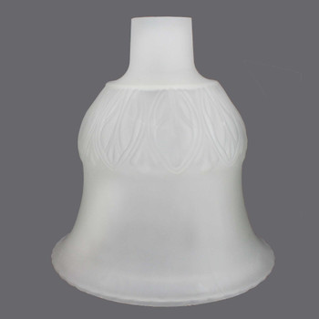 11in. Frosted Tall Flared Bell Torchiere Shade with 2-3/4in. Neck