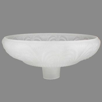 14-1/2in. Frosted Draped Torchiere Shade with 2-3/4in. Neck