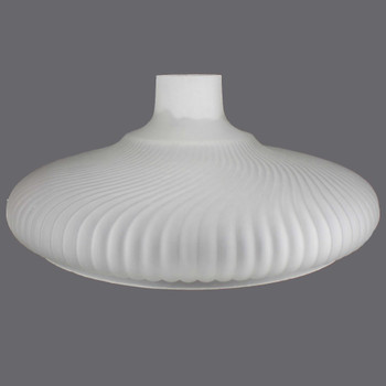 16in. Frosted Ribbed Swirl Torchiere Shade with 2-3/4in. Neck