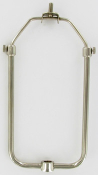 Polished Nickel Finish Adjustable Lamp Shade Harp - 8 to 13in.