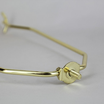 10in. Heavy Duty Brass Plated Swing Arm Lamp Shade Harp