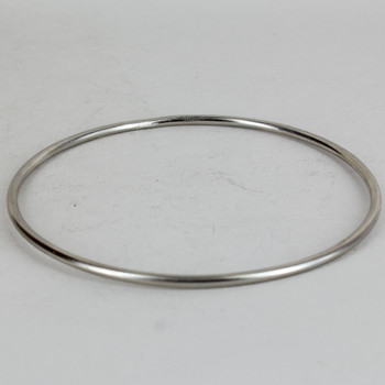 12 inch Diameter #10 Steel Wire Bottom Ring - Nickel