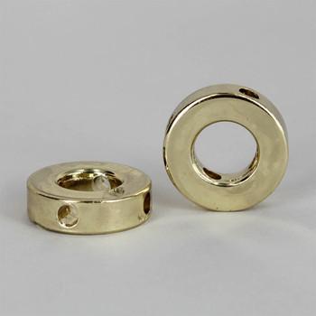 Brass Plated 4 Hole 10 Gauge Shade Spider Washer