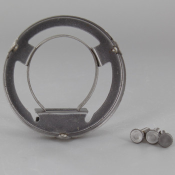 2-1/4in. Unfinished Steel Clamp On Socket Shade Holder for Metal Shell Sockets