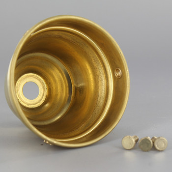 2-1/4in. Unfinished Brass Deep Holder with Screws