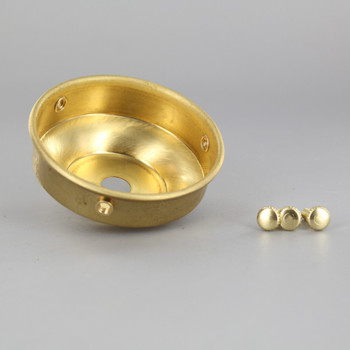 2-1/4in. Unfinished Brass Flat Holder with Screws