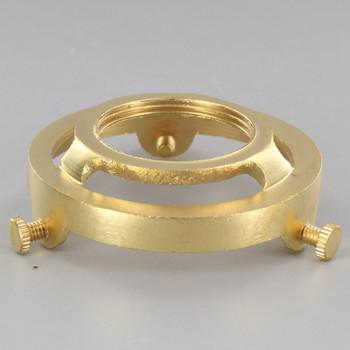 2-1/4in. Unfinished Cast Brass Uno Thread Shade Holder