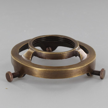 2-1/4in. Antique Brass Finish Cast Brass Uno Thread Shade Holder