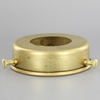 2-1/4in Fitter Flat Unfinished Brass Shade Holder with 1-3/8in Hole