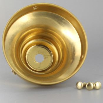 3-1/4in. Unfinished Brass Deep Holder