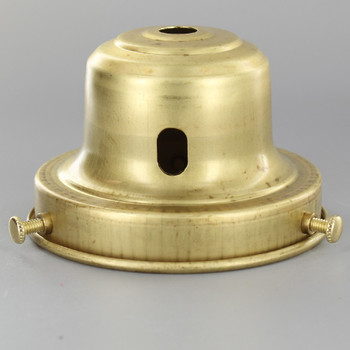 3-1/4in. Unfinished Brass Deep Holder with Switch Slot