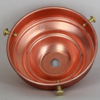 3-1/4in. Copper Rounded Top Shade Holder