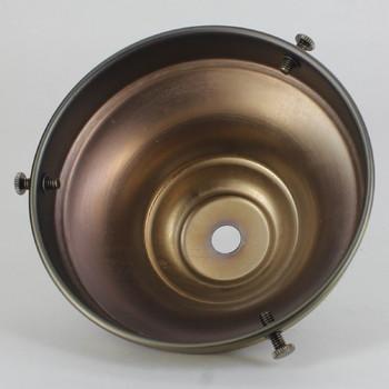 4in. Antique Brass FInish Steel Deep Shade Holder