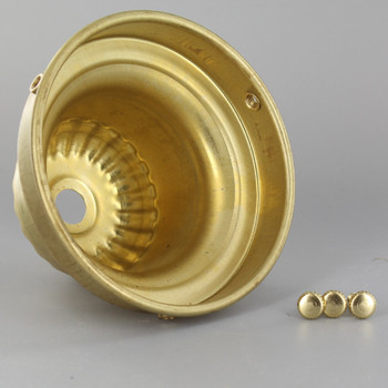 4in. Unfinished Brass Deep Ribbed Top Shade Holder
