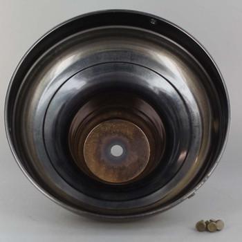 6in. Antique Brass Finish Deep Shade Holder with 1/8ips. Slip Through Center Hole
