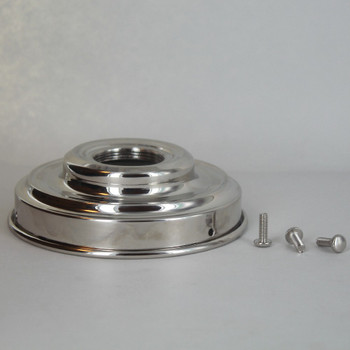 4IN FITTER POLISHED NICKEL UNO THREADED LAMP SHADE HOLDER