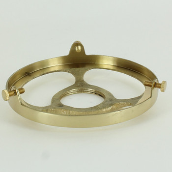 4in. Polished Brass Finish Cast Brass Uno Threaded Shade Holder