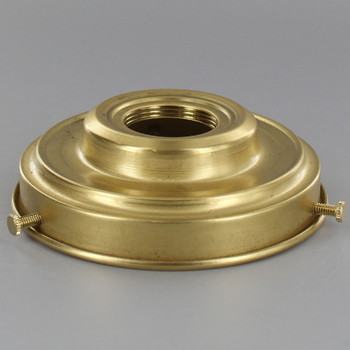 4in Fitter Unfinished Brass UNO Threaded Lamp Shade Holder.