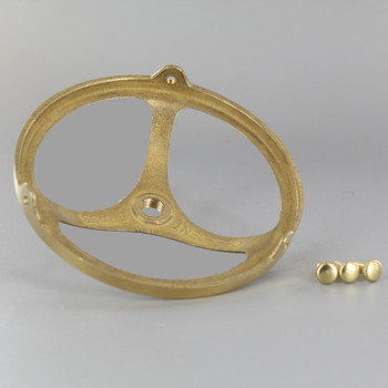 4in. Unfinished Cast Brass Spoke Holder with 1/8ips. Female Thread Center