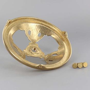 4in. Unfinished Cast Brass Deco Spoke Holder