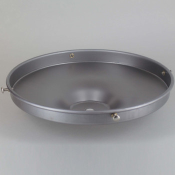8in. Unfinished Steel Flat Shade Holder