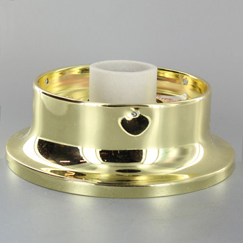 4in. Flush Brass Plated Single Socket Holder