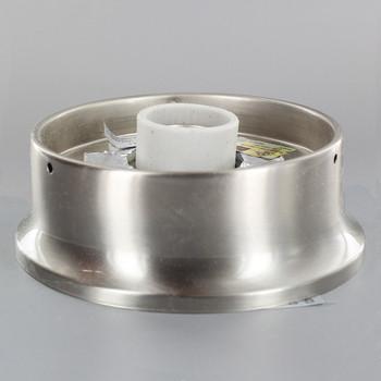 4in. Flush Satin Nickel Plated Single Socket Holder