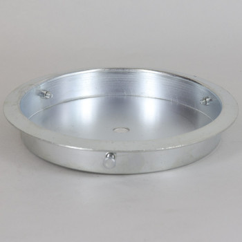5-1/4in  Steel Neckless Hole Shade Fitter with 8/32 Threaded Grommets. 1/8ips(7/16in) Slip Center Hole.