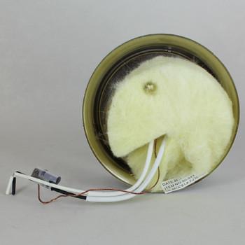 4in. Flush Chrome Plated Single Socket Holder