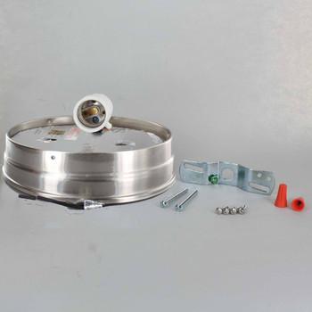 6in. Flush Satin Nickel Plated Single Socket Holder