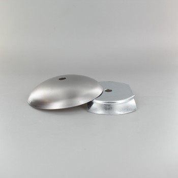 3in Steel Neckless Ball Holder Set with Cover and  Insert - Unfinished Steel
