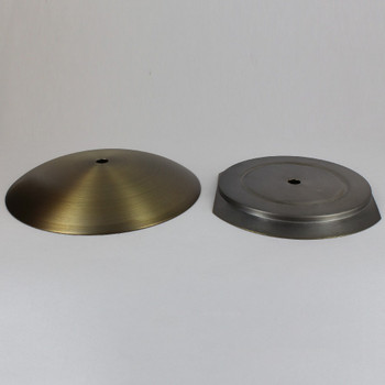5-1/4in Steel Neckless Ball Holder Set with Cover and Insert - Antique Brass