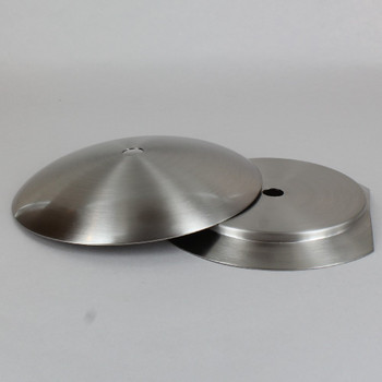 4in Steel Neckless Ball Holder Set with Cover and Insert - Satin/Brushed Nickel Finish