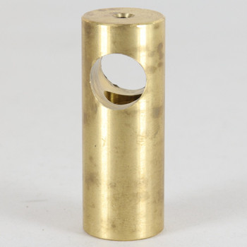 1/2in Slip Through Stand Off with 8/32 UNC Female Setscrew. Bottom Tapped 1/8ips Female - Unfinished Brass