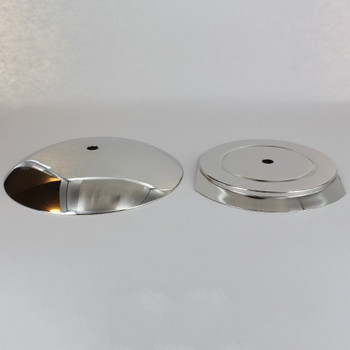 5-1/4in Steel Neckless Ball Holder Set with Cover and Insert - Polished Nickel Finish