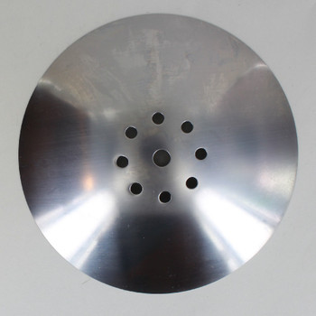 7in Diameter Vented Neckless Holder Cover - Unfinished Steel