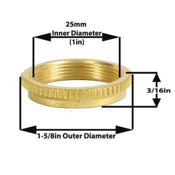 Brass Hang Straight Ring Fits HS206 - HS207 - HS209 - HS210
