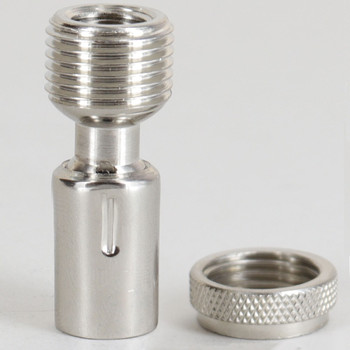 1/8ips. Threaded  Polished Nickel Finish Brass Mini Hang Straight for 5/8in Hole Canopies.