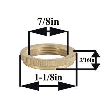 Unfinished Brass Ring For Hang Straight fits HS200 - HS201 - HS203 - HS208