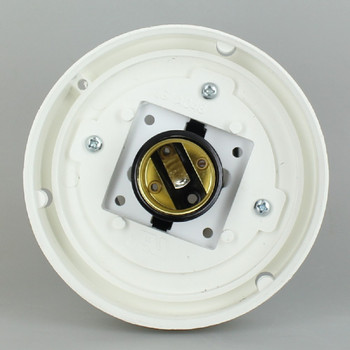4 in. Twist Lock Fitter for 3 in. Post with Socket - White