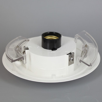 5.25 in. Neckless Holder  for 3 in. Post Top  with Socket - White