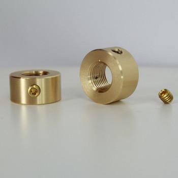 1/8-27 ips smooth locknut with set-screw unfinished brass