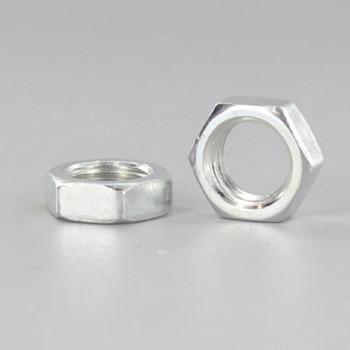 1/8-27 ips. White Zinc Plated Steel Heavy Duty Hex Head Nut