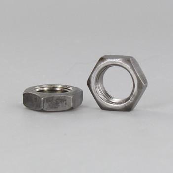 1/8-27 ips. Unfinished Steel Heavy Duty Hex Head Nut