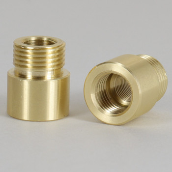 1/4ips Female X 3/8ips Male Brass Straight Nozzle with 1/8ips Tapped Center Hole