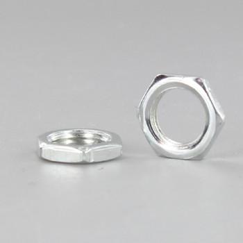 1/8-27 ips. White Zinc Plated Steel Hex Head Nut