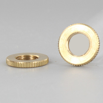 3/4in Diameter - 1/8ips Threaded Knurled Flat Brass Nut