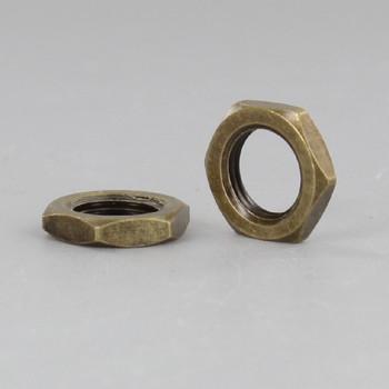 1/8-27ips. Antique Brass Finish Hex Head Nut