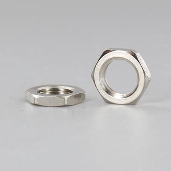 1/8-27ips. Polished Nickel Finish Hex Head Nut